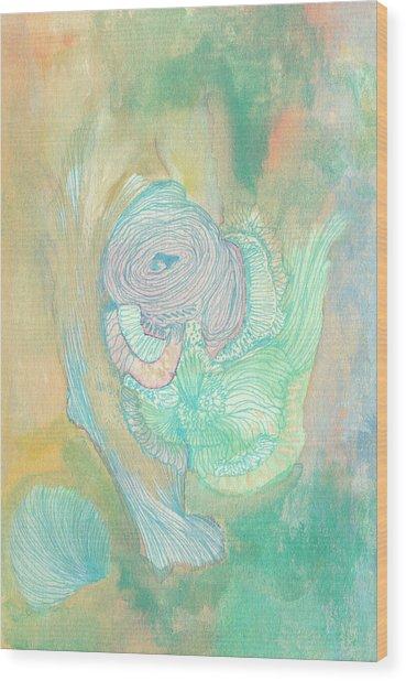 New Born - #ss18dw017 Wood Print by Satomi Sugimoto