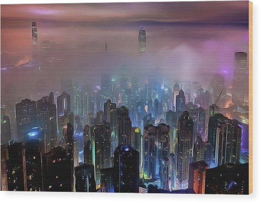 New City Skyline Wood Print