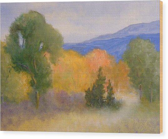New England Fall Wood Print