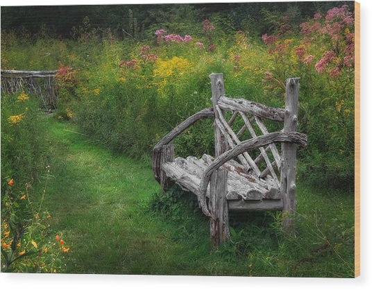 New England Summer Rustic Wood Print