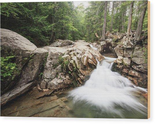 New England Waterfall Wood Print
