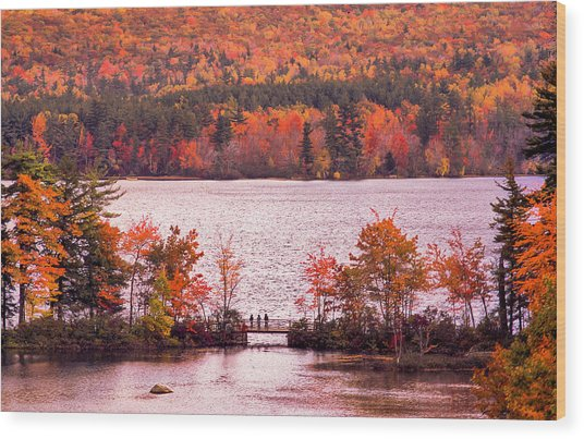 New Hampshire Fall Wood Print
