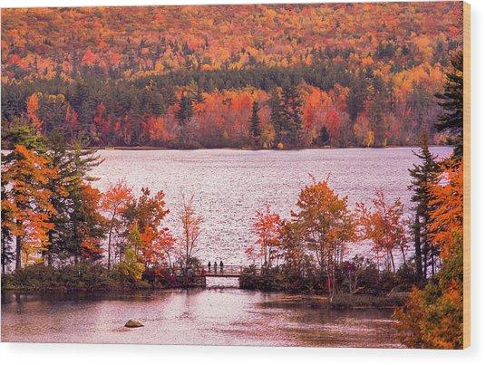 New Hampshire Fall Wood Print