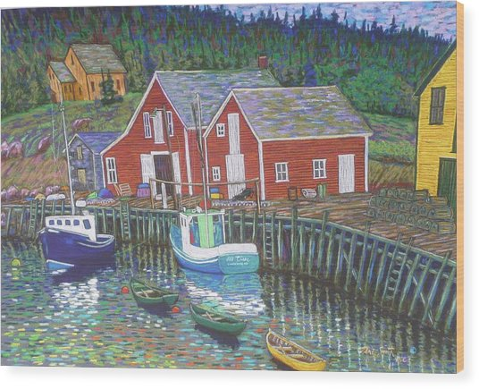 New Harbour  N.s. Wood Print