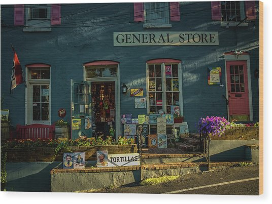 New Hope General Store Wood Print