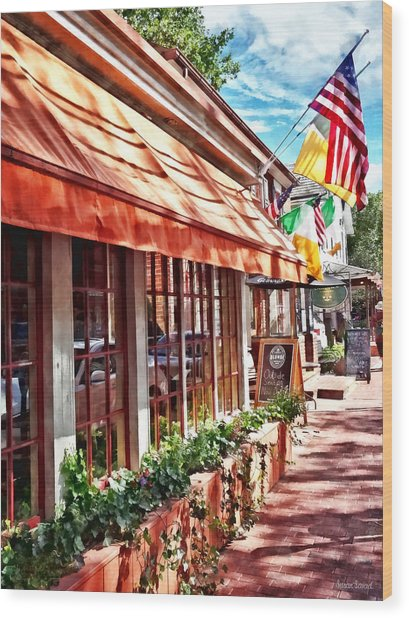 New Hope Pa - Outdoor Seating Now Open Wood Print