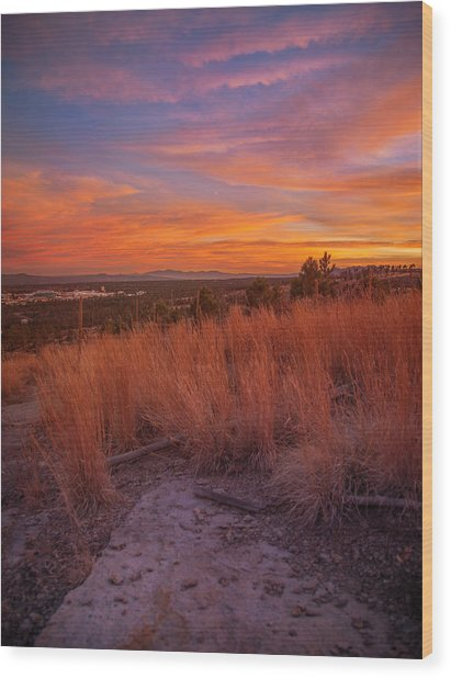 New Mexican Sunset Wood Print