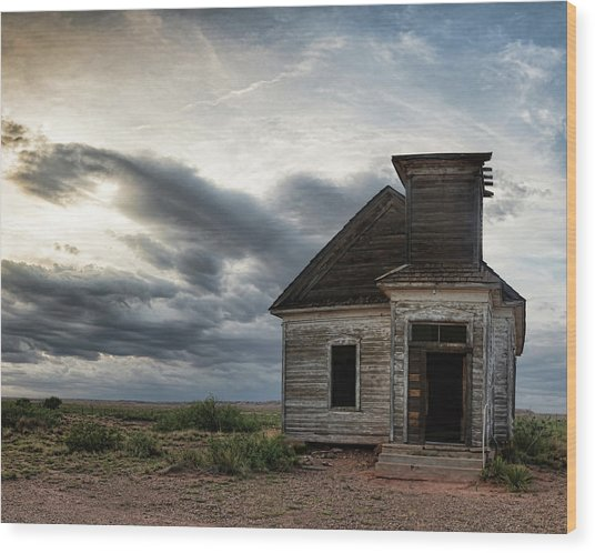 New Mexico Church Wood Print
