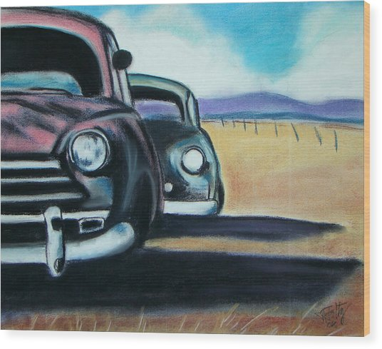 New Mexico Junkyard Wood Print