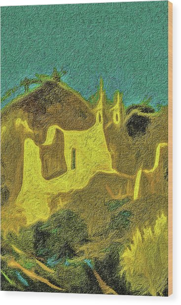 New Mexico Skyline Wood Print