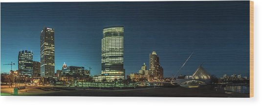 New Milwaukee Skyline Wood Print