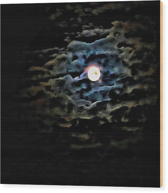 Wood Print featuring the photograph New Moon by Al Harden