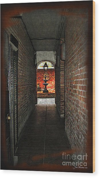 New Orleans Alley Wood Print