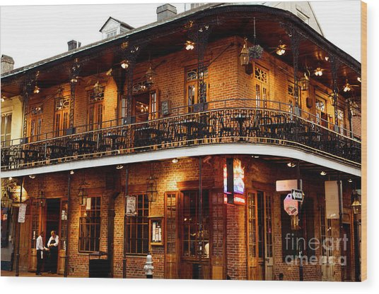 New Orleans And All That Jazz Wood Print