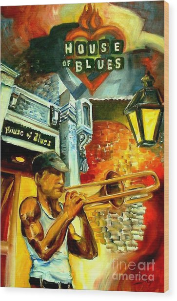 New Orleans' House Of Blues Wood Print