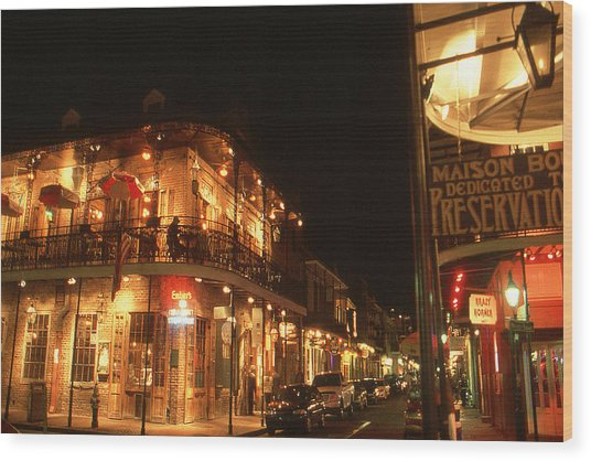 New Orleans Jazz Night Wood Print
