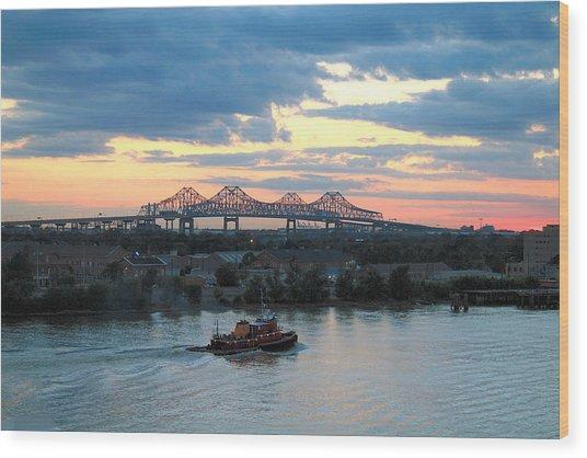 New Orleans Riverfront Wood Print