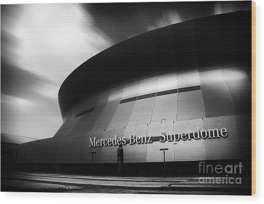 New Orleans Stadium Wood Print by Alessandro Giorgi Art Photography