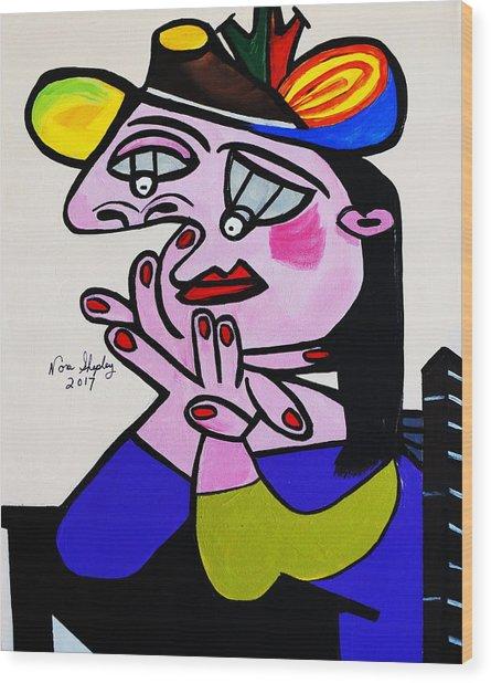 Picasso  Bug Eye Wood Print