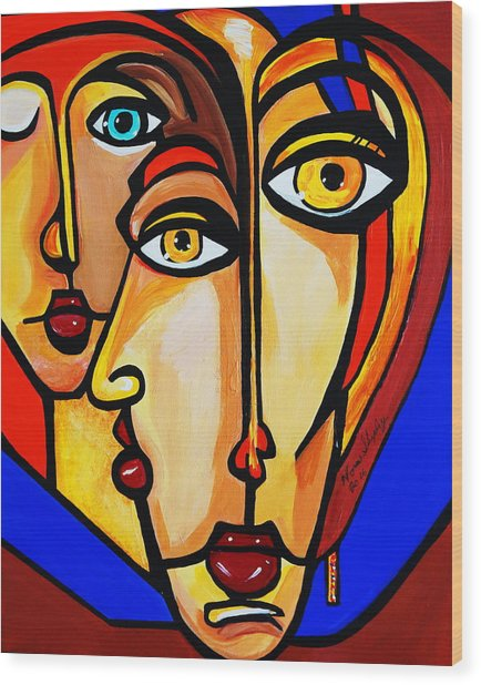 New Picasso By Nora Friends Wood Print