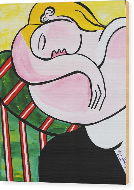 New Picasso By Nora Out Cold Wood Print