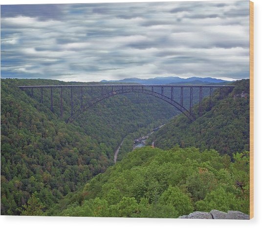New River Bridge Wood Print