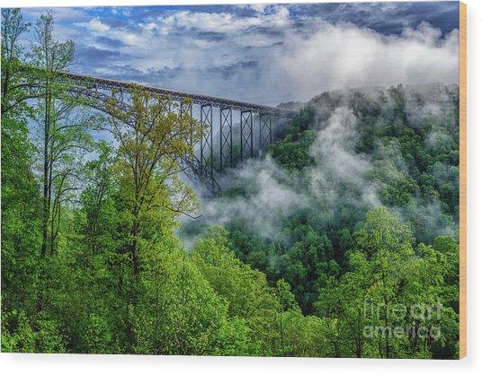 New River Gorge Bridge Morning  Wood Print