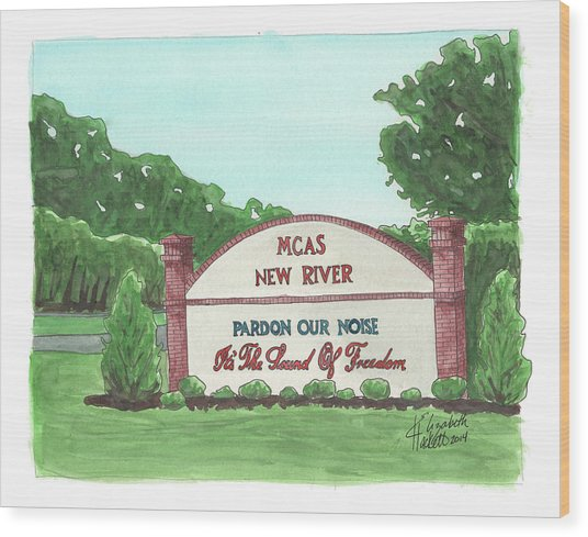 New River Welcome Wood Print