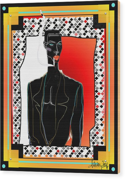 Amazing Grace Jones Wood Print