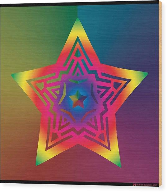 New Star 1a Wood Print