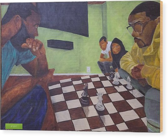 A Game Of Chess Wood Print