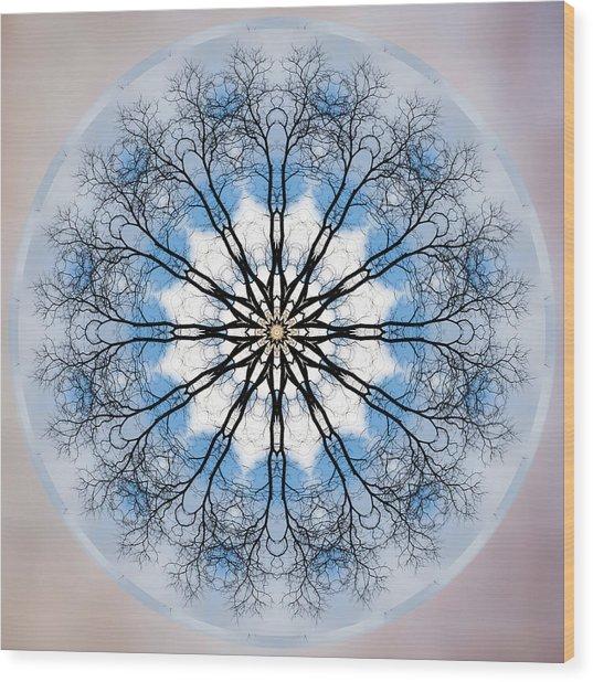 New Year Mandala - Wood Print