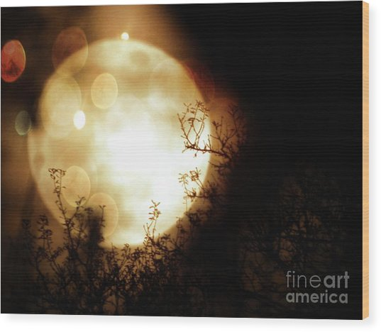 New Year Super Moon Wood Print