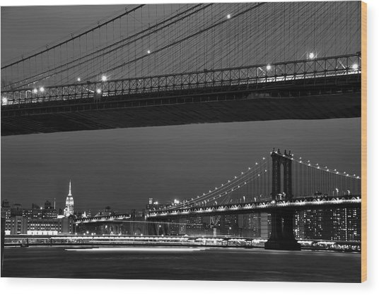New York Bridges Wood Print