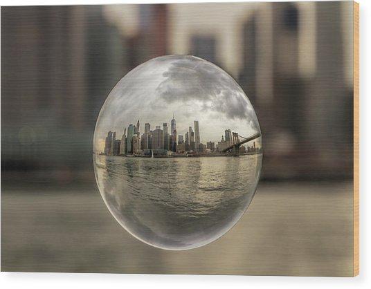 New York Bubble Wood Print by Zev Steinhardt