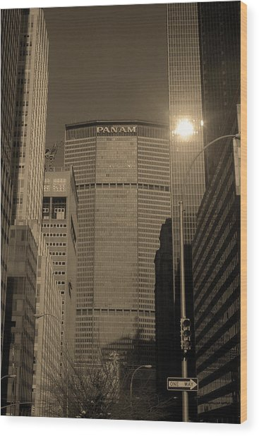 New York City 1982 Sepia Series - #7 Wood Print