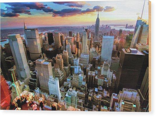 New York City Downtown Manhattan Wood Print