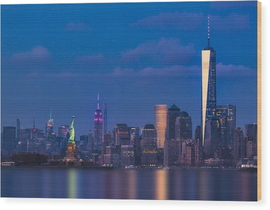 Wood Print featuring the photograph New York City Icons by Susan Candelario