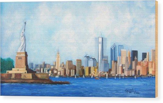 New York City Rebirth Wood Print