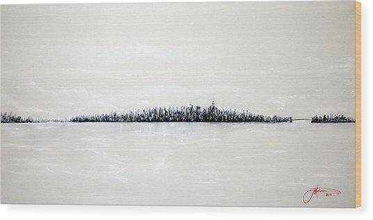New York City Skyline 48 Wood Print