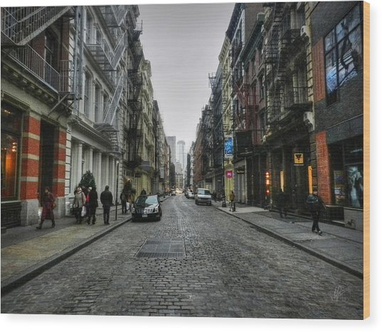 Wood Print featuring the photograph New York City - Soho 003 by Lance Vaughn