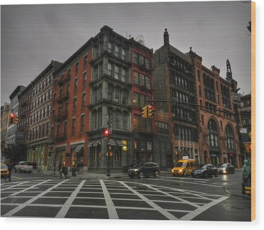 Wood Print featuring the photograph New York City - Soho 006 by Lance Vaughn