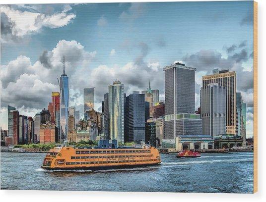New York City Staten Island Ferry Wood Print