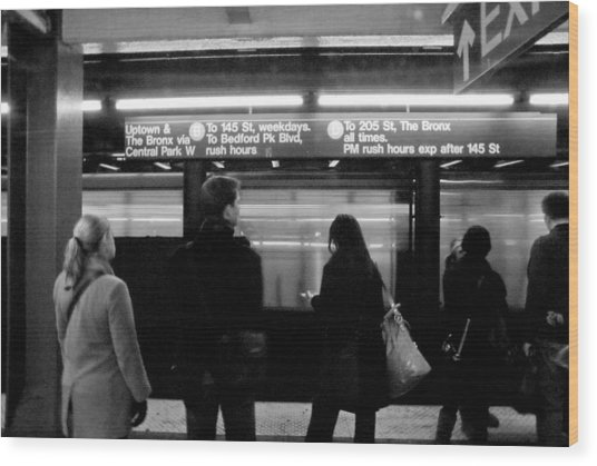 New York City Subway Wood Print by Patrick  Flynn