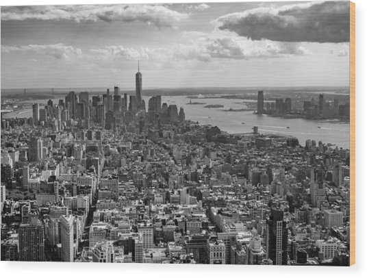 New York City - View From Empire State Building Wood Print