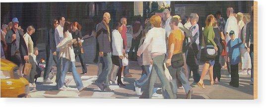 New York Crosswalk Wood Print by Merle Keller
