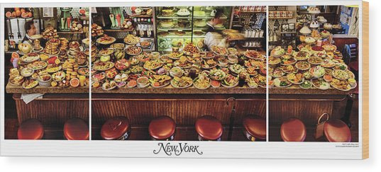 The New York Diner Wood Print