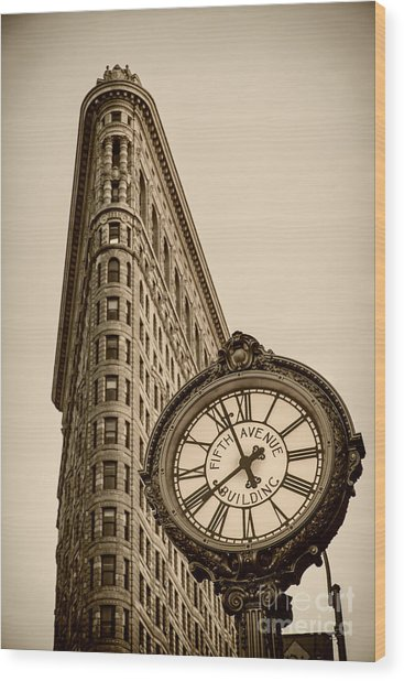 Wood Print featuring the photograph New York Flatiron by Juergen Held