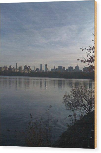 New York Is Beautiful Wood Print by Wendy Uvino