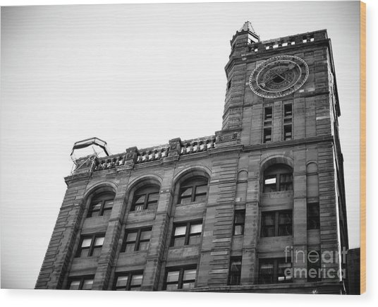 Montreal New York Life Insurance Building Wood Print by John Rizzuto